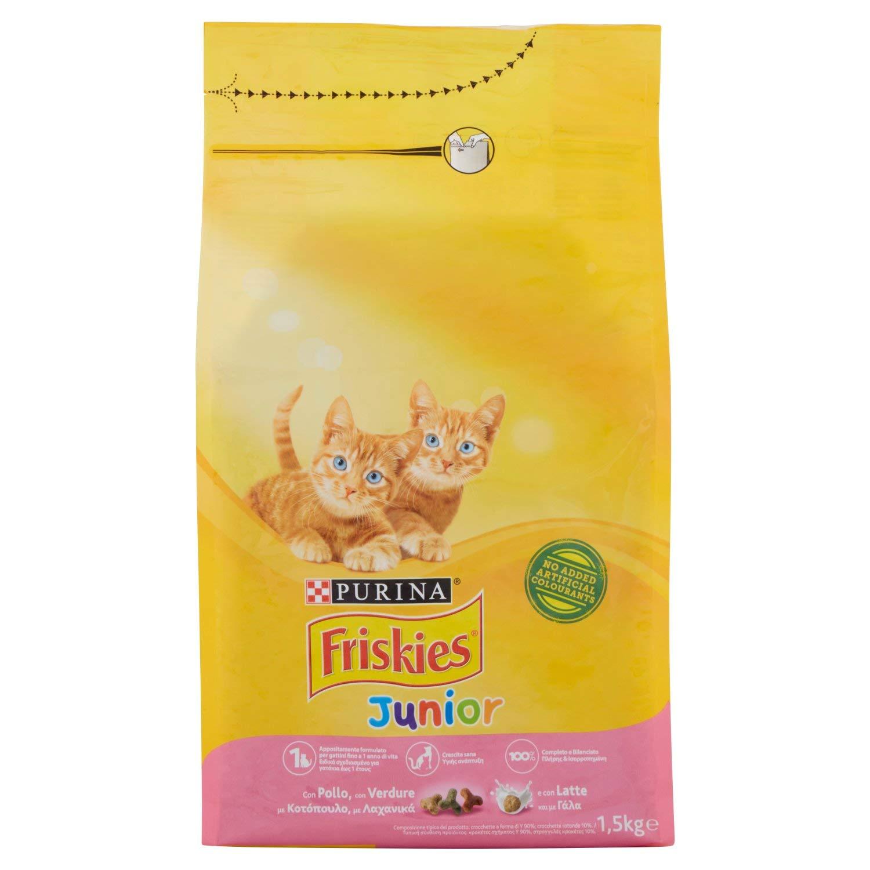 Friskies Junior pienso para el Gato, con Pollo, Leche y Verduras ...