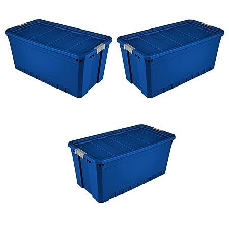 BADAshop Contenedores de almacenamiento de plástico, paquete de 3 ...