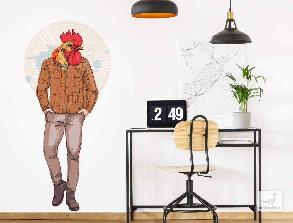 dekodino® Pegatina de pared modelar polla con traje de hipster ...