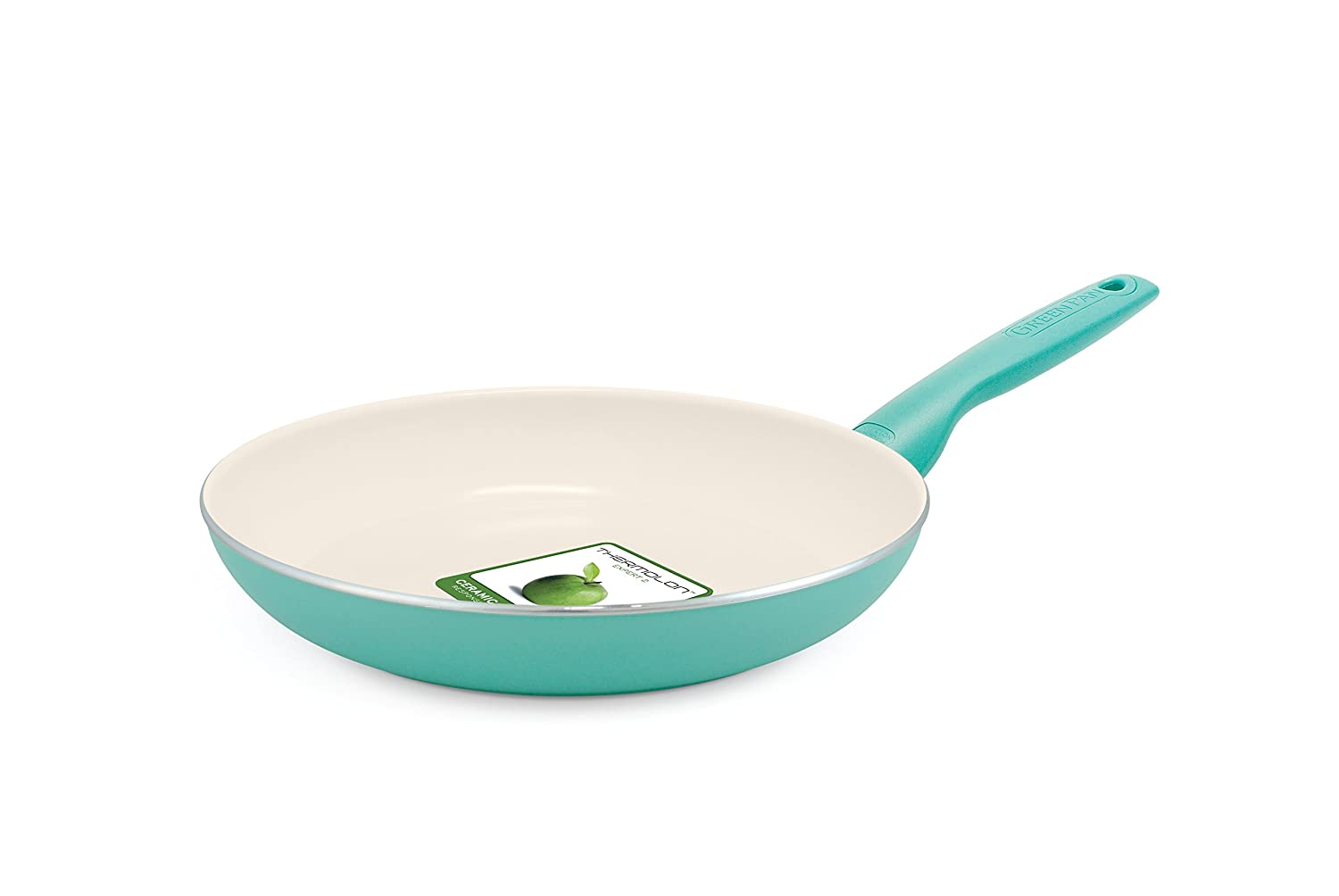 GreenPan Rio 8 Inch and 10 Inch Ceramic Non-Stick Fry Pan Set, Turquoise The Cookware Company CW001419-002