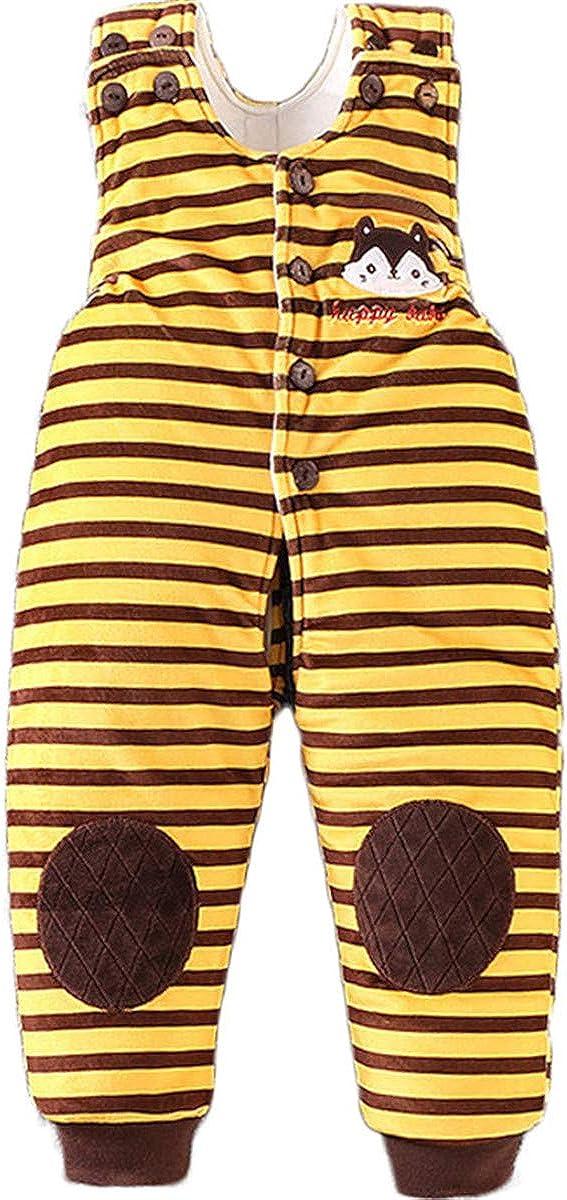 JELEUON Baby Toddlers Kids One Piece Soft Cotton Sleevess Winter Warm Snowsuit Romper Jumpsuit