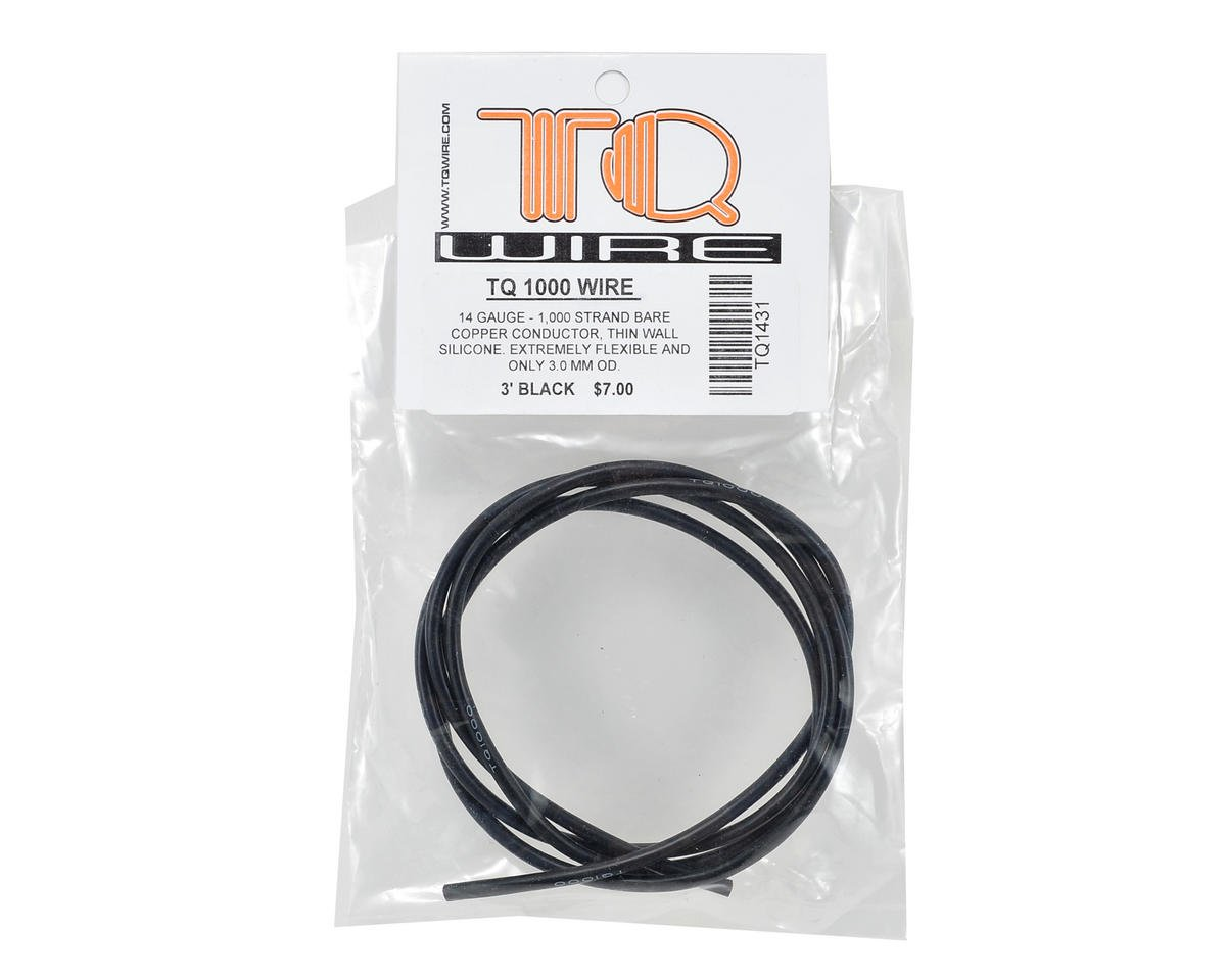 TQ WIRE PRODUCTS 1431 14 Gauge Wire 3\' Black - - Amazon.com