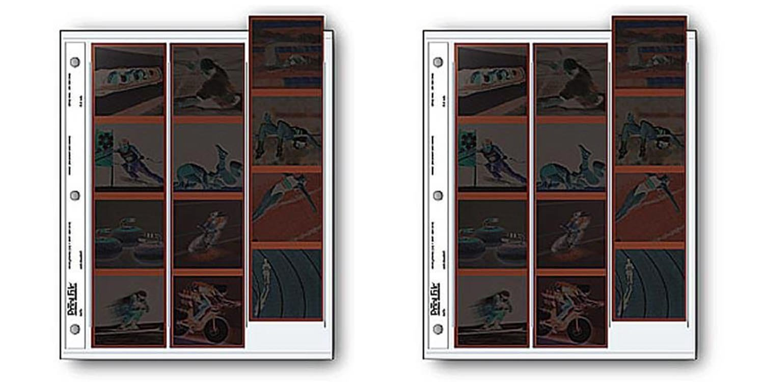 Archival 120 Size Negative Pages Holds Three Strips of Four 6 x 6 Frames, 25pc 2pack