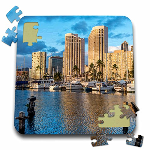 Danita Delimont - Hawaii - USA, Hawaii, Oahu, Honolulu, Ala Moana Marina - 10x10 Inch Puzzle - Moana Ala Hawaii