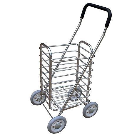 Carro de compras Carrito de la carretilla de la aleación de aluminio Carro de la tienda