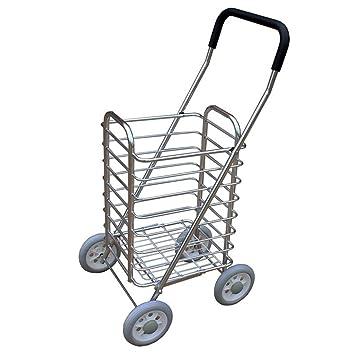 Carro de compras Carrito de la carretilla de la aleación de aluminio Carro de la tienda ...