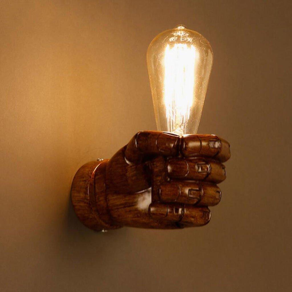 KKY-ENTER Staffa di montaggio a parete lampada da parete della lampada in resina retrò classico Lampada da parete creativa lampada da parete pugno decorativo camera da letto della lampada da parete bar ristorante caffetteria lampada da parete del corridoi