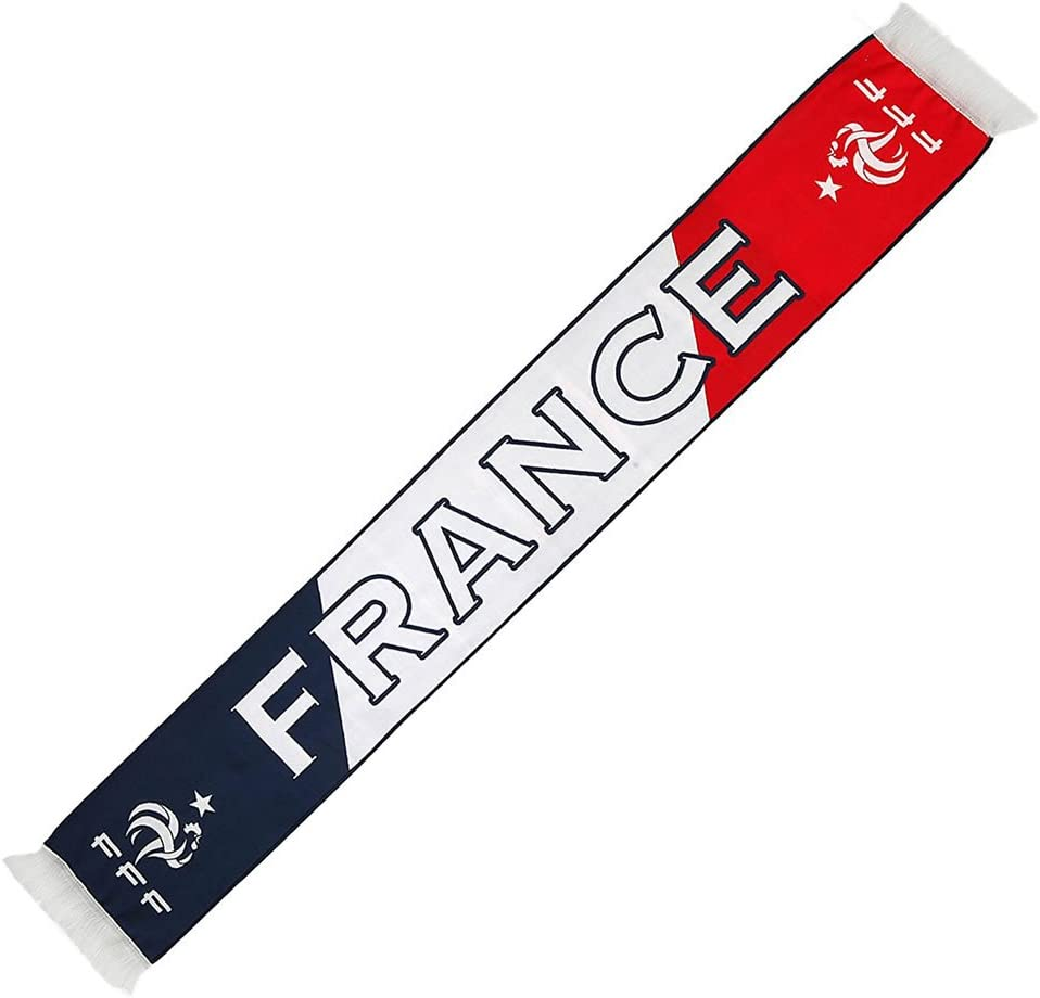 Official France Football Team Fan Scarf White Red Blue French Football Federation