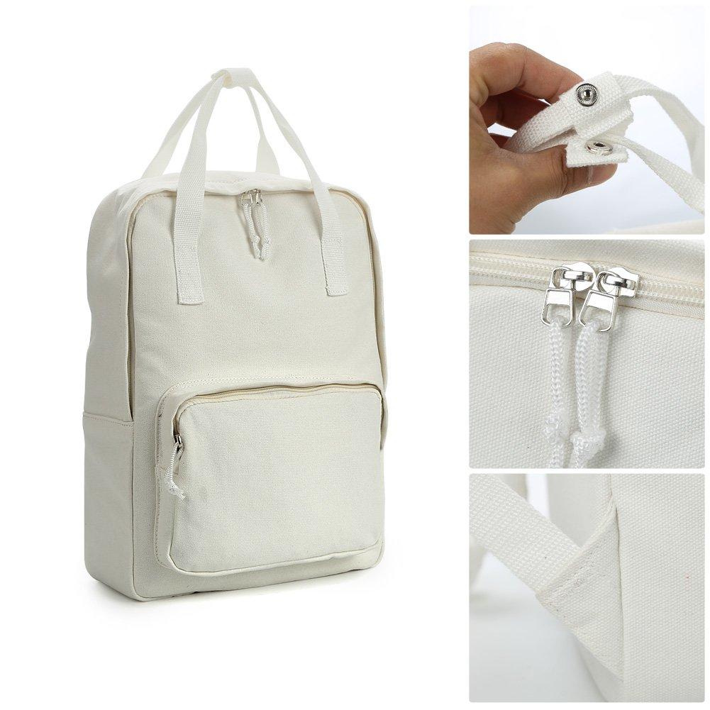Zicac Unisex DIY Canvas Backpack Daypack Satchel Backpack