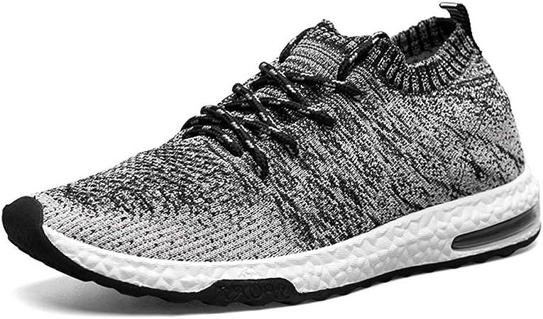 YSZDM Zapatillas de Running de Carretera para Hombre, con amortiguación en el Fondo Suave Zapatos para Caminar Calcetines de Tejido elástico de Alto Vuelo,A,43: Amazon.es: Hogar