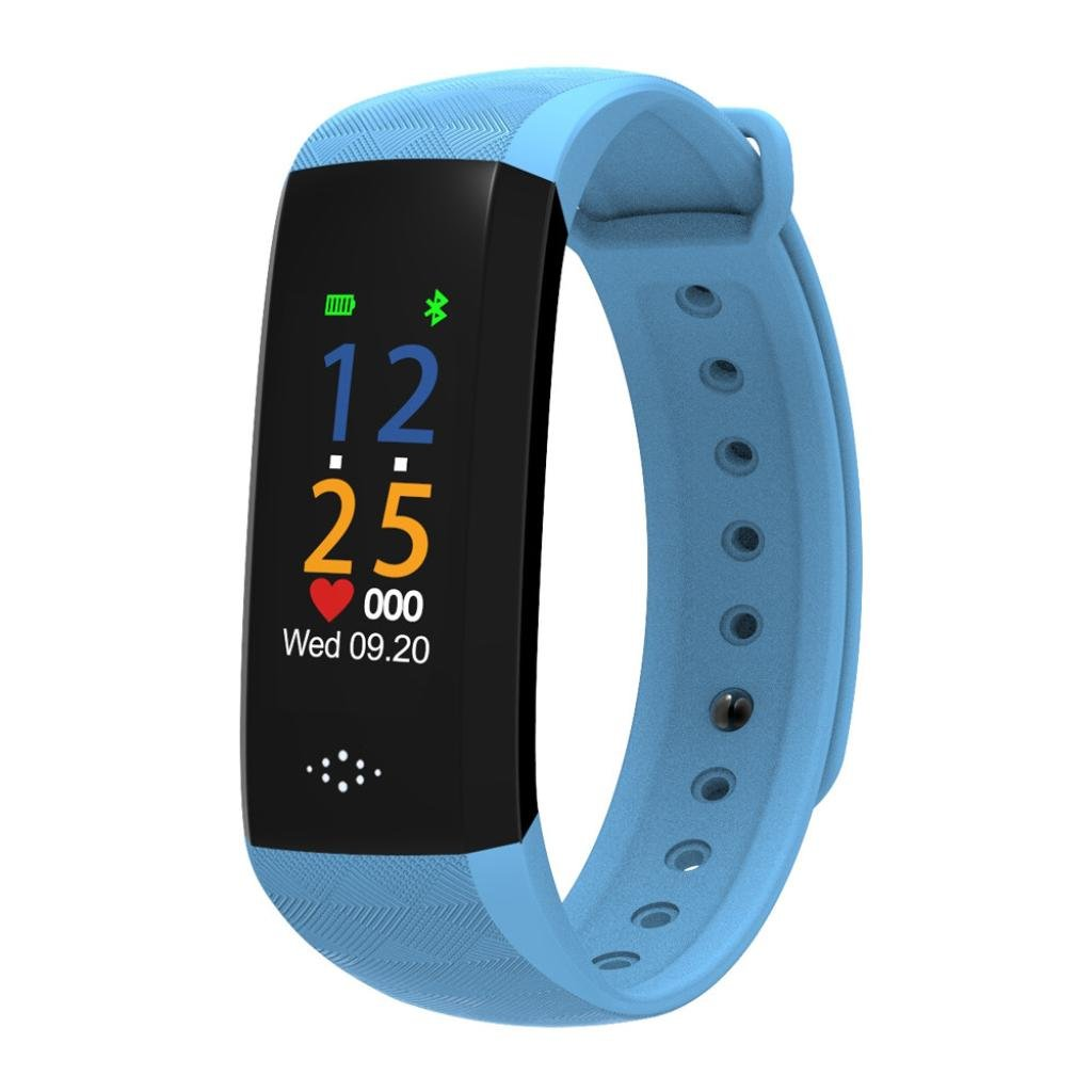 """HP95 M2P Fitness Tracker with Blood Pressure Blood Oxygen Heart Rate Sleep Monitor,Waterproof IP67 Colorful UI 0.96""""OLED Smart Watch-Standby Time 7 Days (Blue)"""
