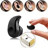 PChero® Mini Invisible Ultra Pequeño de Bluetooth 4.0 de botón del auricular con Micrófono, Soporte técnico de llamadas con Manos libres para teléfonos Inteligentes, Ideal para escuchar música en el trabajo, para el oído derecho - [Negro]