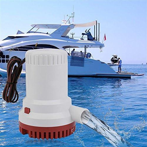 Swiftswan 2000GPH Non-automatische Anti-Airlock Marine Bilgepumpe Vakuum Wasserpumpe (Farbe: weiß)