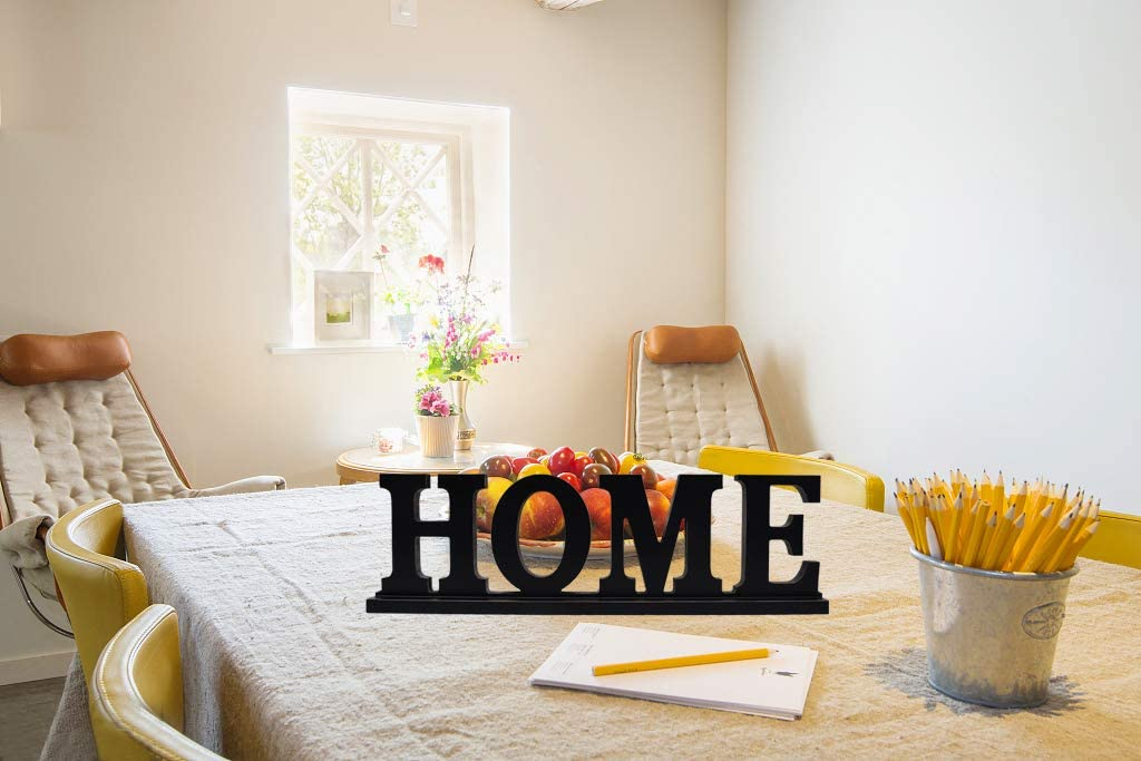 Decorative Wooden Cutout Word Decor Freestanding Home Tabletop Decor Black Assorted Pack-B Attraction Design Rustic Wood Home Sign for Home Decor Set of 3 Decorative Family Word Art Wood Sitter
