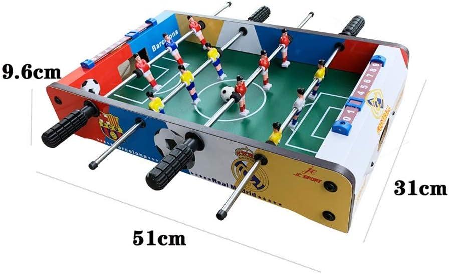 Pkjskh Mini futbolín de Mesa de 20 Pulgadas Juego de fútbol de Mesa Doble de 4 Filas Juego de futbolín for niños Mayores de 3 años Fútbol de Mesa de Entretenimiento Interactivo
