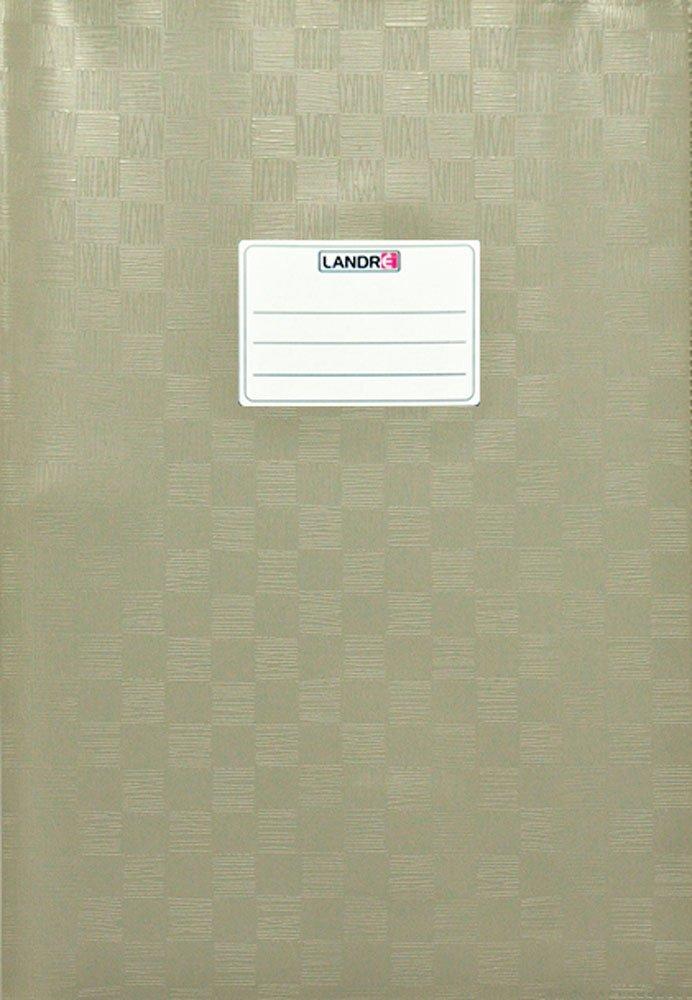 LANDRE 100420063 Hefthülle A4 10er Pack mit Namensschild geprägt in Bast-Optik pink flexibel und abwischbar Hamelin GmbH