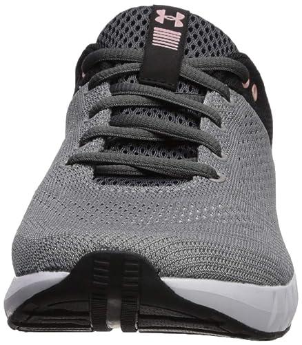 Under Armour Women s Micro G Pursuit Running Shoe, Steel 112 Black 8 M