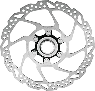 160 mm Shimano Deore SMRT54S Brake Disc Centre Lock silver Size:Durchmesser
