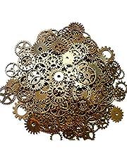 Demarkt steampunk tandwielen, antieke metalen tandwielen, hangers voor sieraden, knutselen, decoratie, kostuums, 12 - 28 mm 100 stuks.