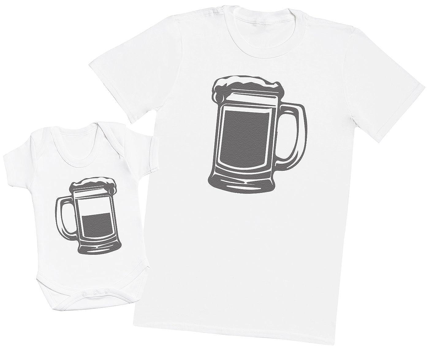 Hommes T-Shirt /& Body b/éb/é Ensemble P/ère B/éb/é Cadeau Zarlivia Clothing Dad Pint and Baby Half Pint