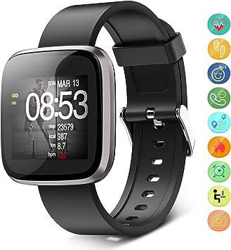 Seneo Smartwatch IP68, Orologio Fitness Tracker Uomo Donna Pedometro Cardiofrequenzimetro da Polso Calorie Monitor del Sonno Smart Watch Braccialetto