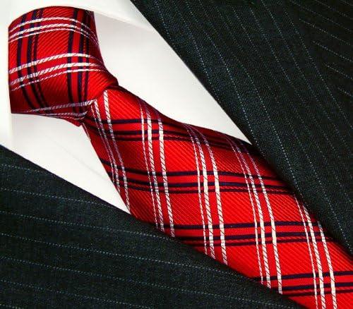 Corbata para hombre rojo azul Cuadrados LORENZO CANA