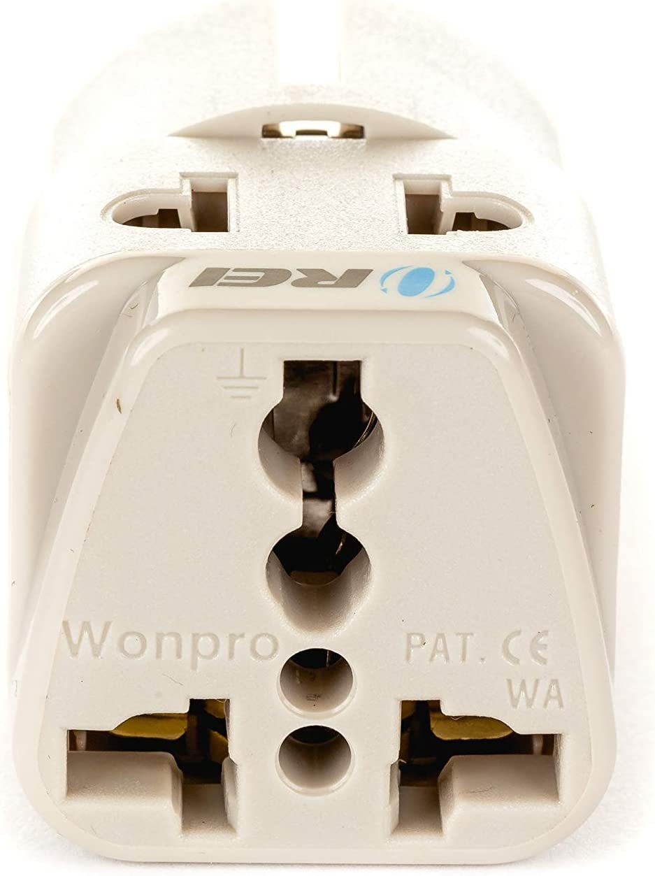 Type E//F 4 Pack - Europe Russia OREI Grounded 2 in 1 Plug Adapter UAE