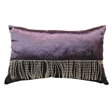 Huma manta decorativa almohada cojín con Fashion borla de ...