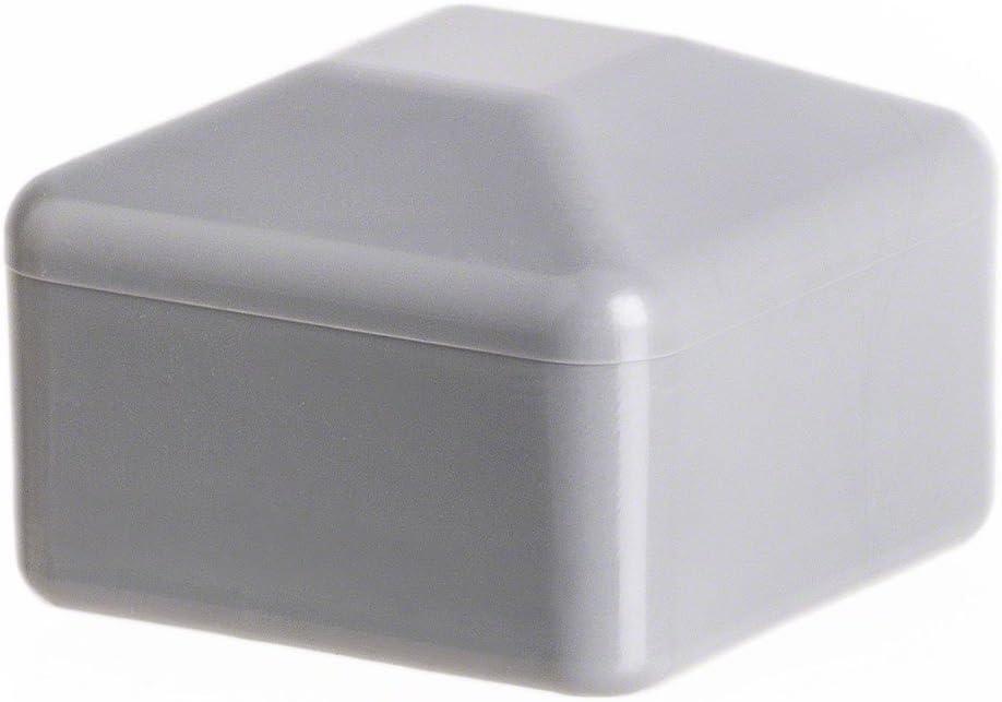 10 pcs capuchon pour poteau carr/é 80x80 gris Capuchon pour poteau de cl/ôture tube plastique