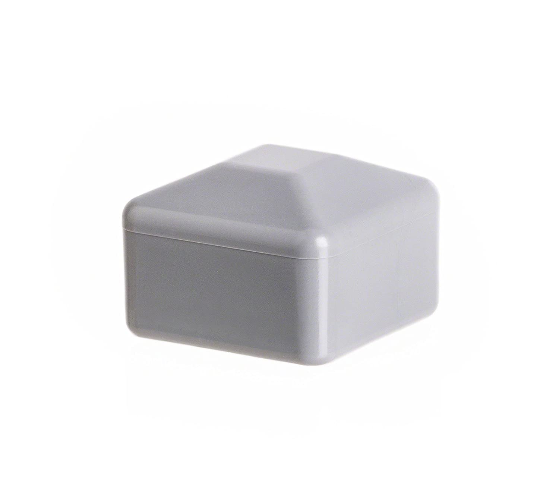 25 Caps Post End Cap Square Plastic Fence Accessories Cover Tube Plug External