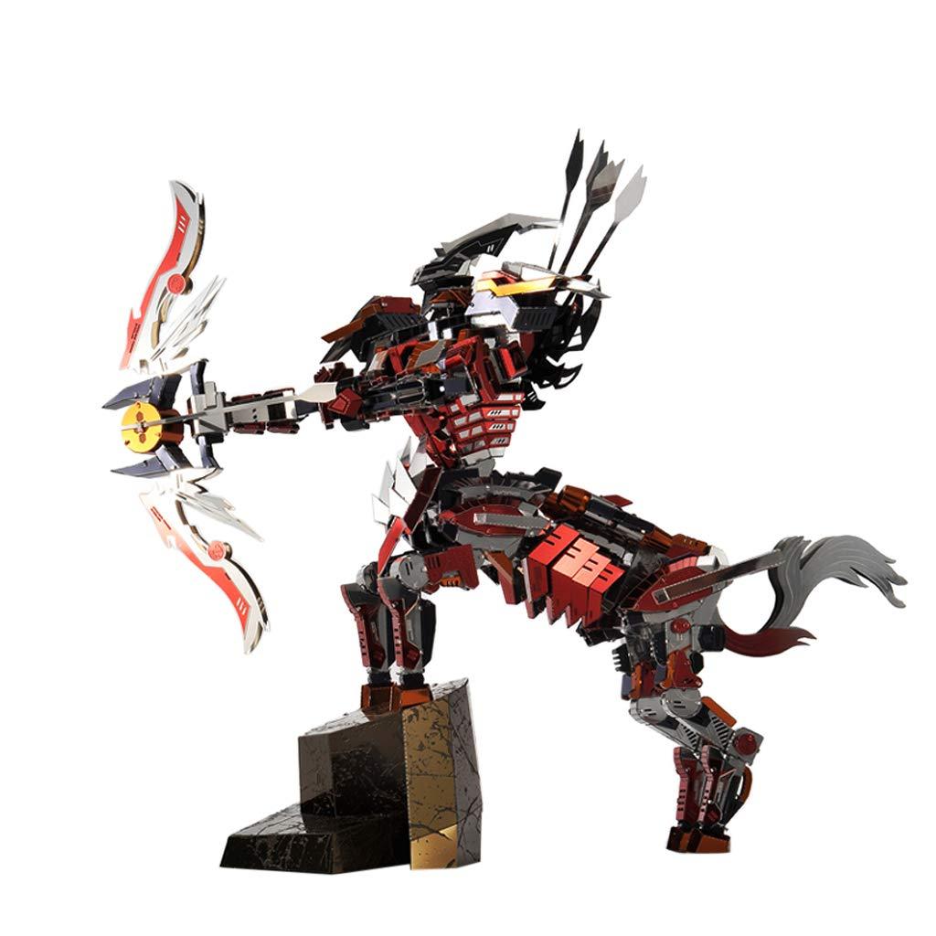 Homyl 337 Piezas Modelos de Ensamblaje Esculturas de Arte en Metal 3D - Jinete