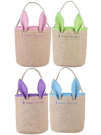 Amazon.com: 1 paquete de 4 bolsas de yute para niños, niñas ...
