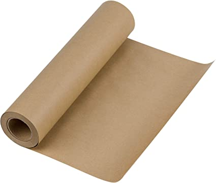 Dunnage /& Parcel Postal Packing 18 inch x 100 Feet Shipping Gift Wrapping RUSPEPA White Kraft Paper Roll Recycled Paper for Crafts Art