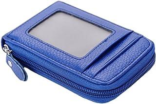 Mignon carte de crédit Cartes de sac à fermeture porte-monnaie, Bleu Blancho Bedding