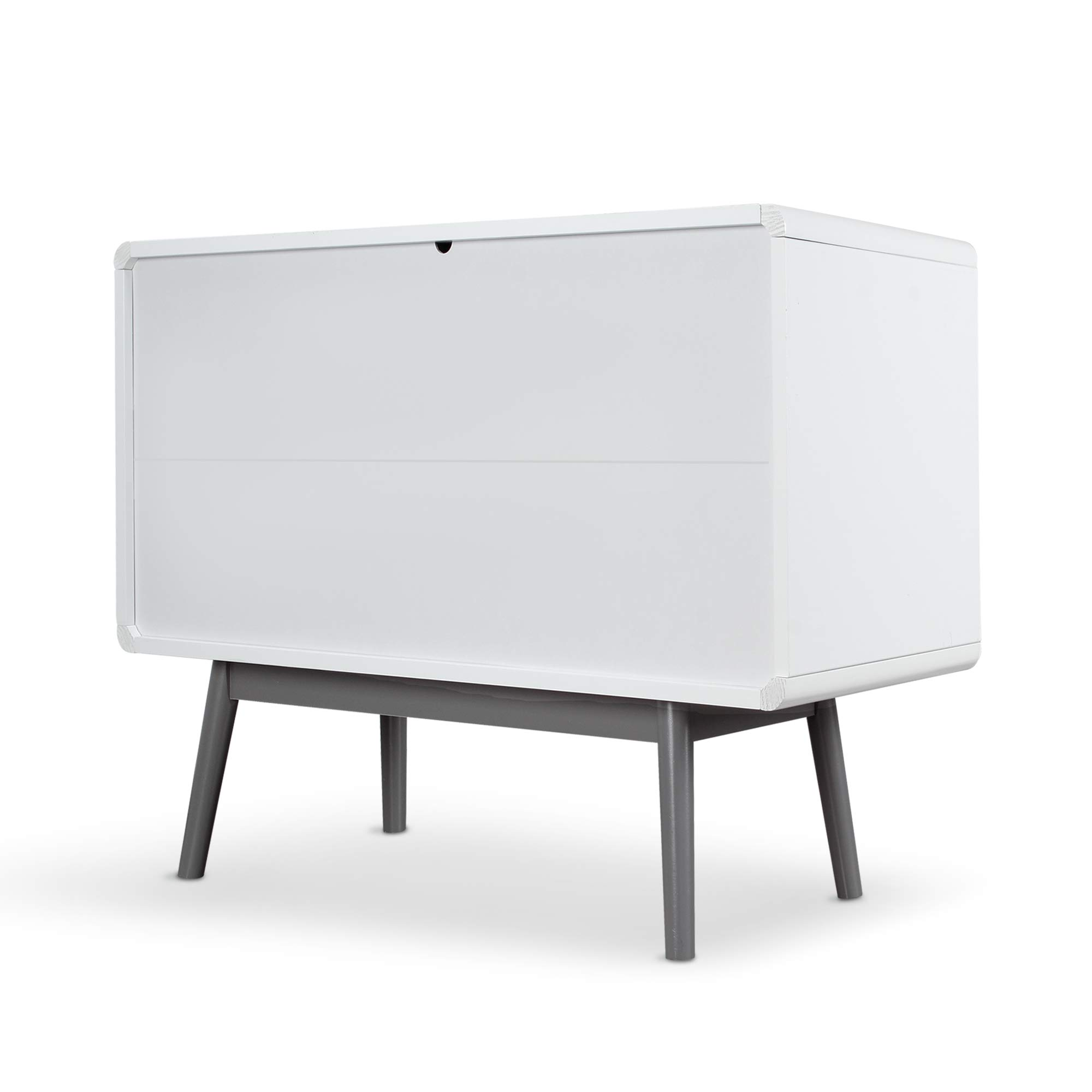 BELLEZE Contemporary Sideboard Buffet Table Cabinet with Wood Storage Console Table 2 Drawers & 1 Cabinet White by Belleze (Image #7)