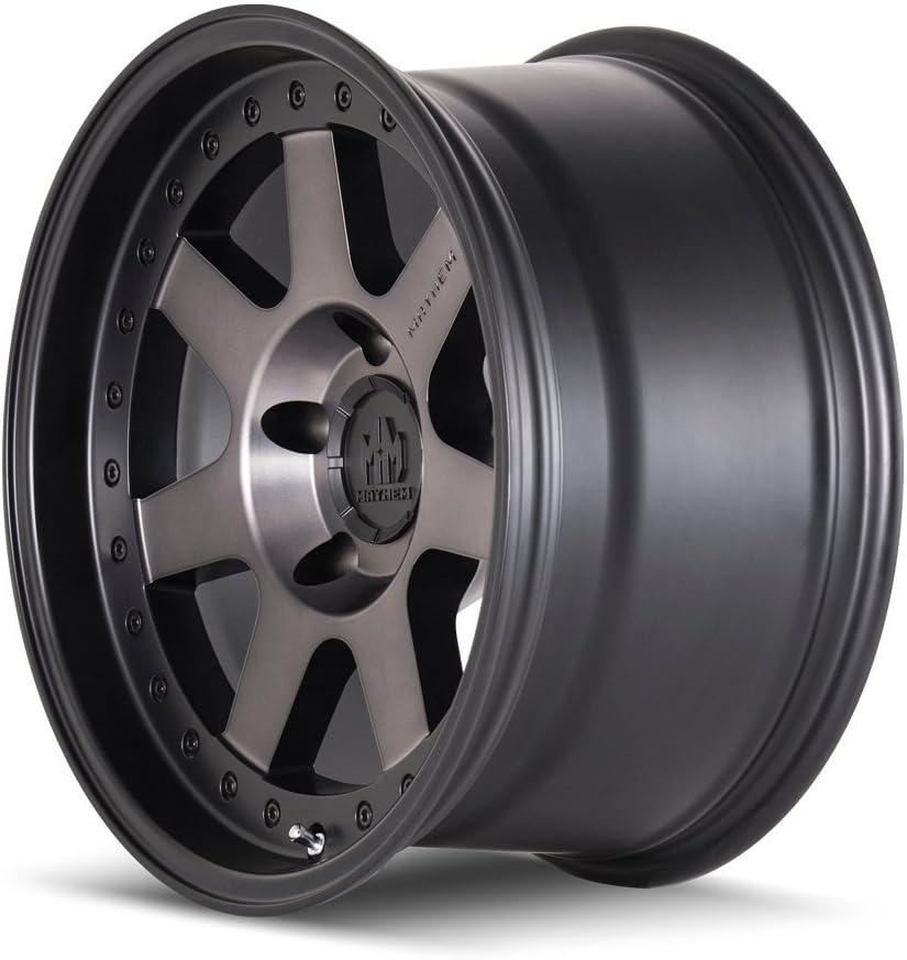 18 x 9. inches //5 x 127 mm, 0 mm Offset Mayhem PRODIGY MATTE BLACK W//DARK TINT Wheel with Painted Finish
