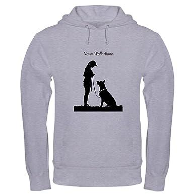 dbf1dd719 CafePress German Shepherd Silhouette Pullover Hoodie, Classic & Comfortable Hooded  Sweatshirt Heather Grey
