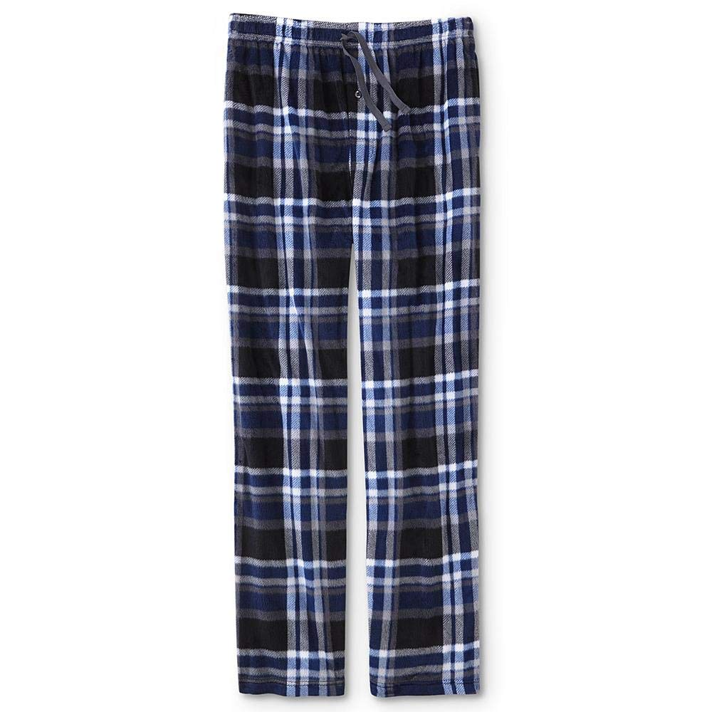 Joe Boxer Mens Fleece Lounge Pajama Pants Midevil Blue Plaid XL