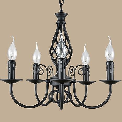 Buona lampadario In ferro battuto mobili da giardino camera da letto ...