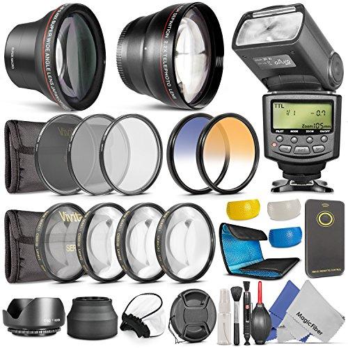 Professional Accessory Kit for Nikon DSLR Cameras (D7000 D5100 D5000 D3100 D3000 D90 D80)