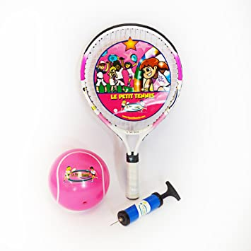 Le Petit Tennis. Raqueta rosa de tenis, 43 cm, con pelota rosa ...