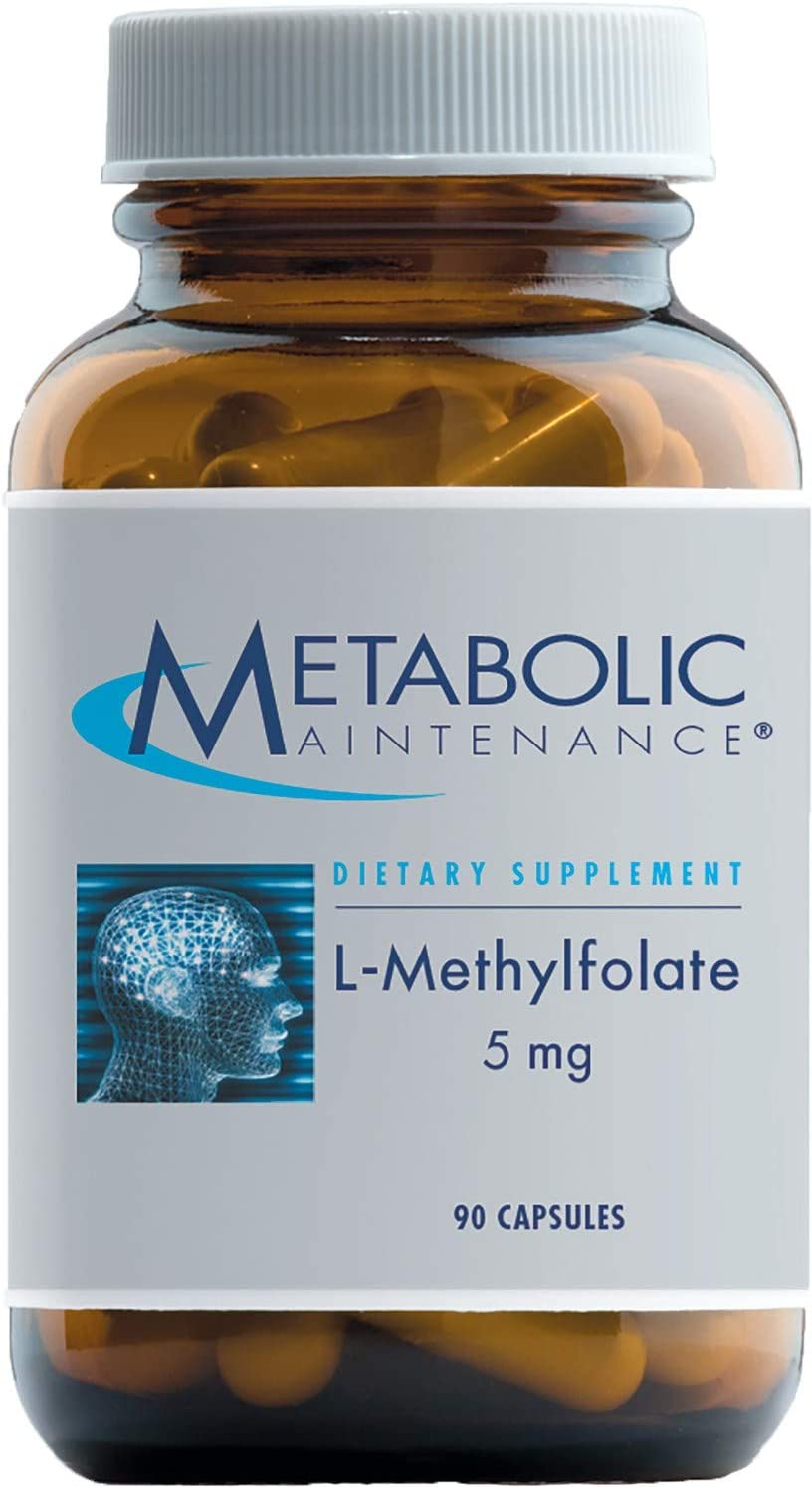 Metabolic Maintenance L-Methylfolate 5 Milligrams - Active Folate (L-5-MTHF) for Mood, Nerve + Cardiovascular Support (90 Capsules)