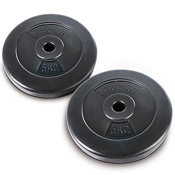 Physionics® HSTA17-2 discos de pesas de 5 kg: Amazon.es: Deportes y aire libre