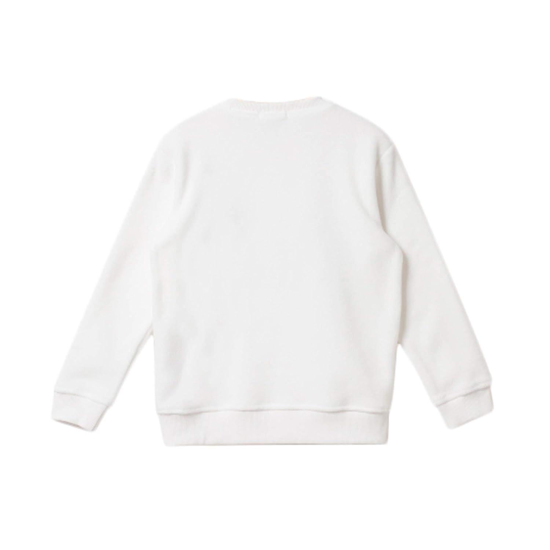 White Bossini Chill Lovers Gift Sweet Boys Grils Word Print Polar Fleece Sweatshirt,Size 100,US Size 4t