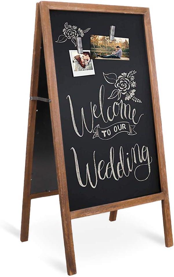 Wooden A Board Chalkboard Sandwich Menu Stand Pavement Sign Large 650mm x 1100mm