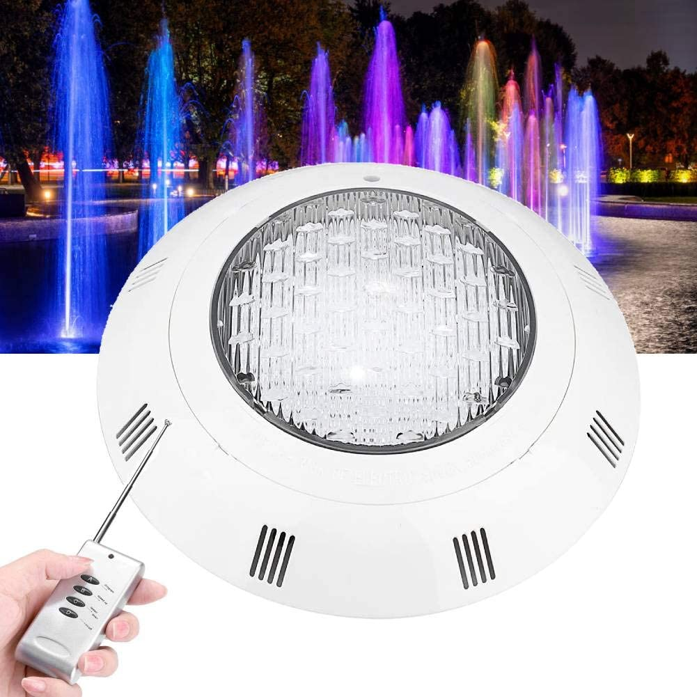 Underwater Pond Pool Light 1# Outdoor Submersible RGB LED Floodlight Waterproof Projector with Remote Control for Landscape Fish Tank Pond Garden Fountain AC85-265V