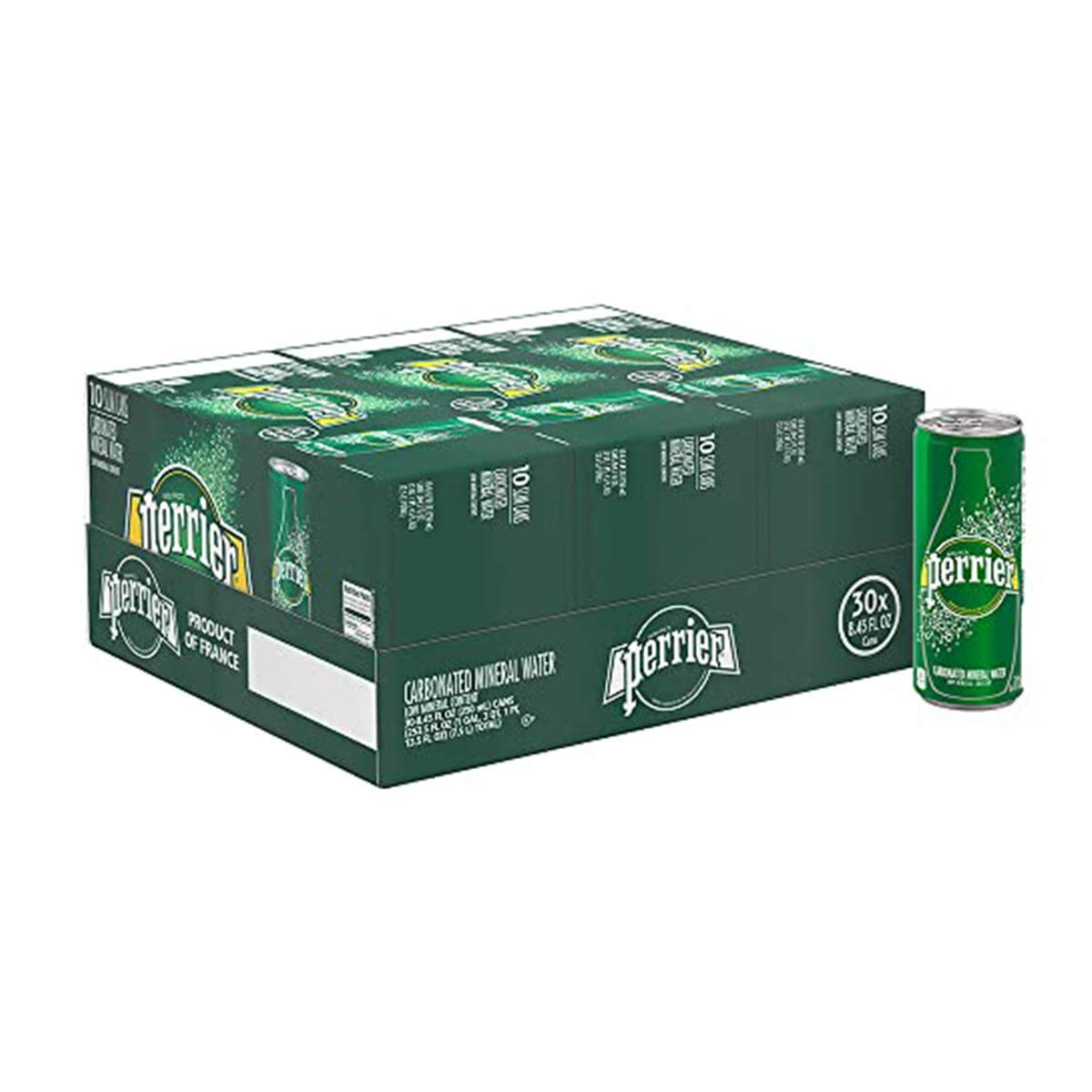 30-Pack 8.45oz Perrier Flavored Carbonated Mineral Water (Original)