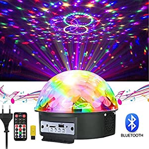 61ILH2Ffa4L. SS300  - GUSODOR-Discokugel-LED-Lichteffekte-Bluetooth-MP3-Musik-Player-RGB-Sprachaktiviertes-Kristall-Magic-Ball-Bhnentechnik-fr-Show-Disco-KTV-Stab-Stadium-Club-Hochzeit-Geburtstag