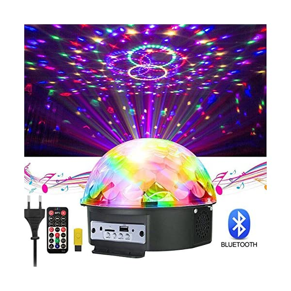 61ILH2Ffa4L. SS600 - GUSODOR Discokugel LED Lichteffekte Bluetooth MP3 Musik Player RGB Sprachaktiviertes Kristall Magic Ball Bühnentechnik für Show Disco KTV Stab Stadium Club Hochzeit Geburtstag GUSODOR Discokugel LED Lichteffekte Bluetooth MP3 Musik Player RGB Sprachaktiviertes Kristall Magic Ball Bühnentechnik für Show Disco KTV Stab Stadium Club Hochzeit Geburtstag 61ILH2Ffa4L
