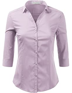 3 4 Sleeve Dress Shirts For Women